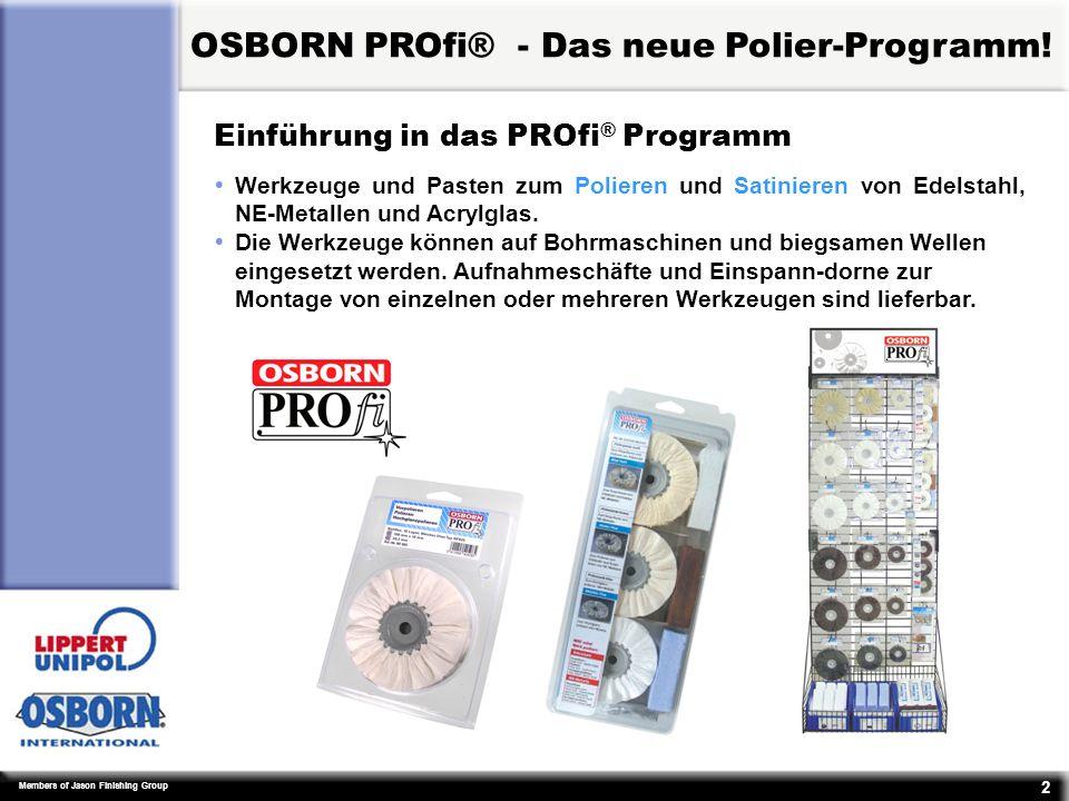 OSBORN PROfi® - Das neue Polier-Programm!