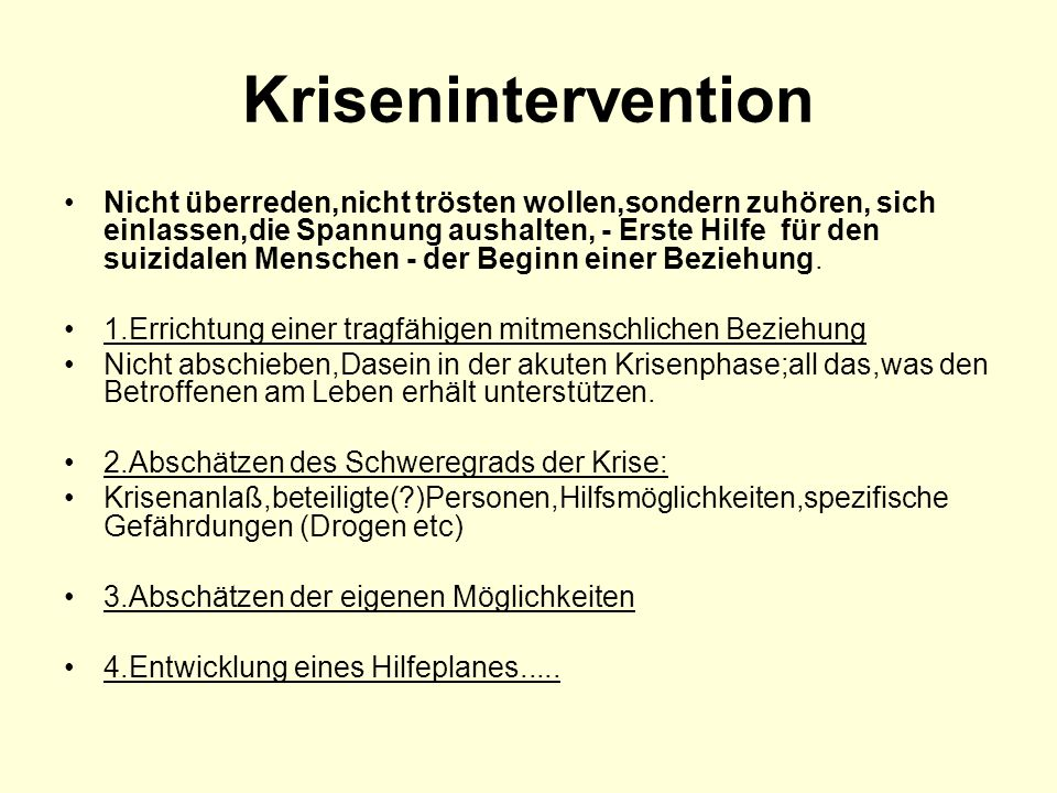 Krisenintervention