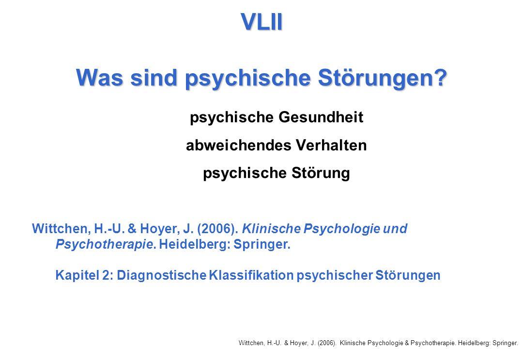VLII Was sind psychische Störungen