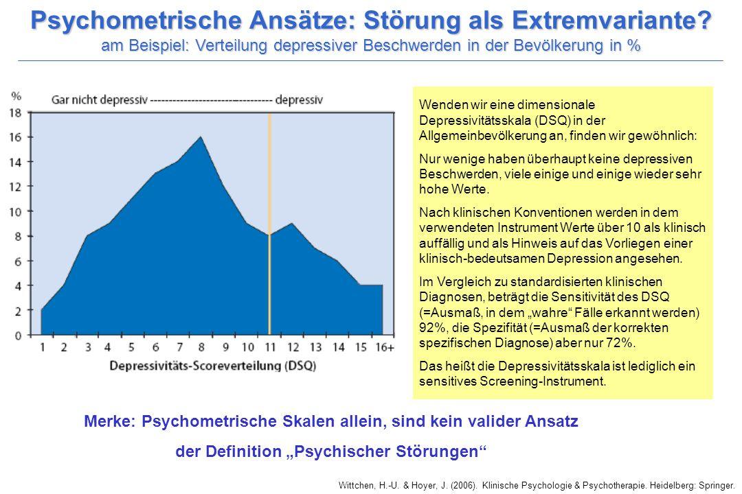 Psychometrische Ansätze: Störung als Extremvariante