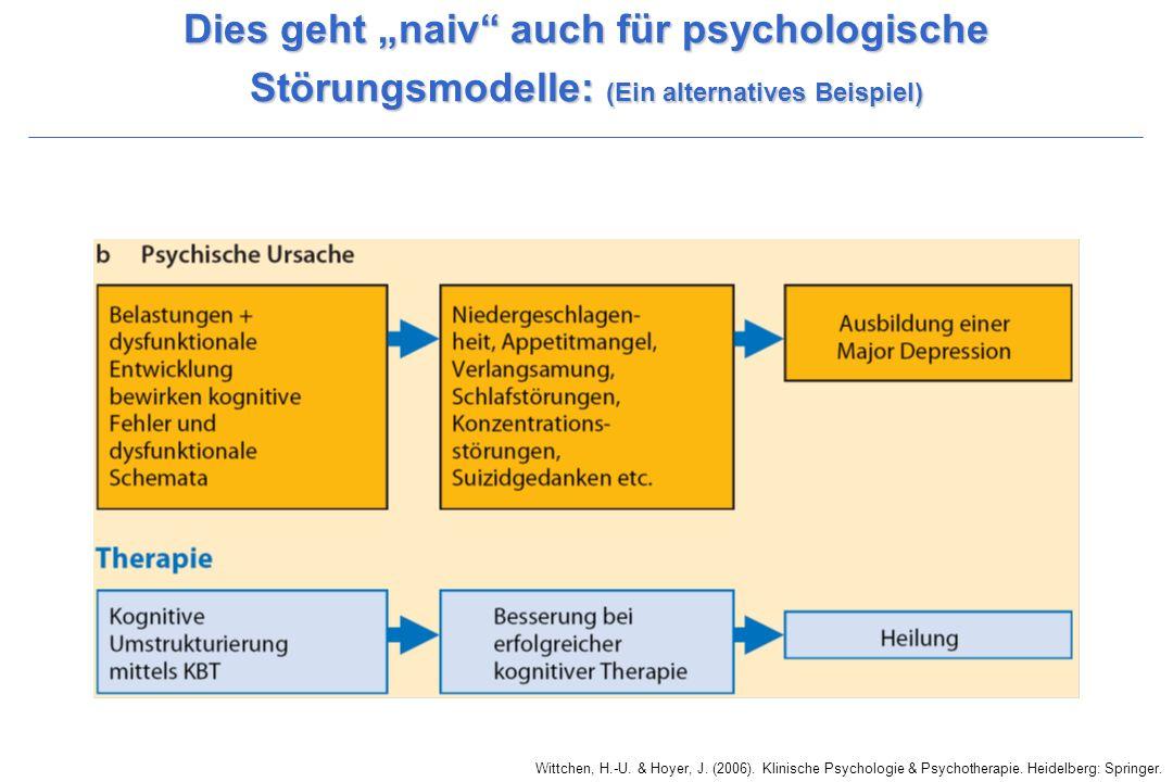 """Dies geht """"naiv auch für psychologische Störungsmodelle: (Ein alternatives Beispiel)"""