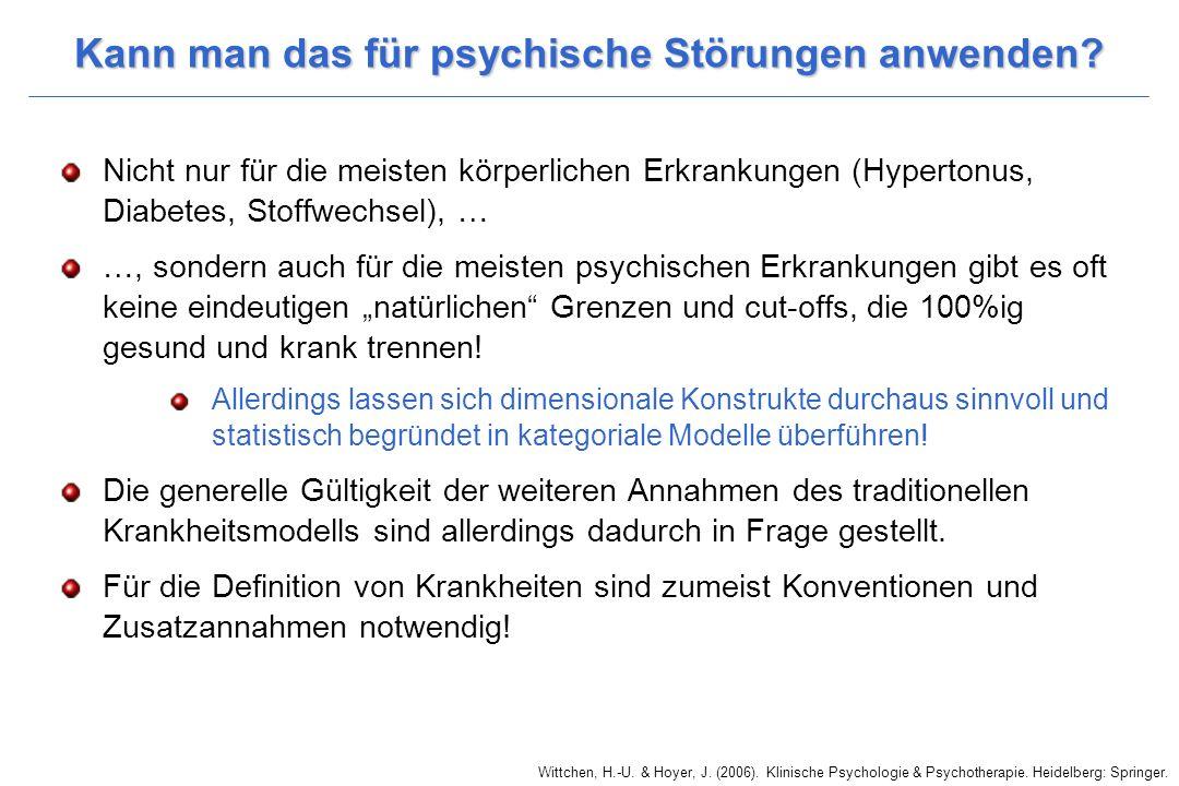 Kann man das für psychische Störungen anwenden