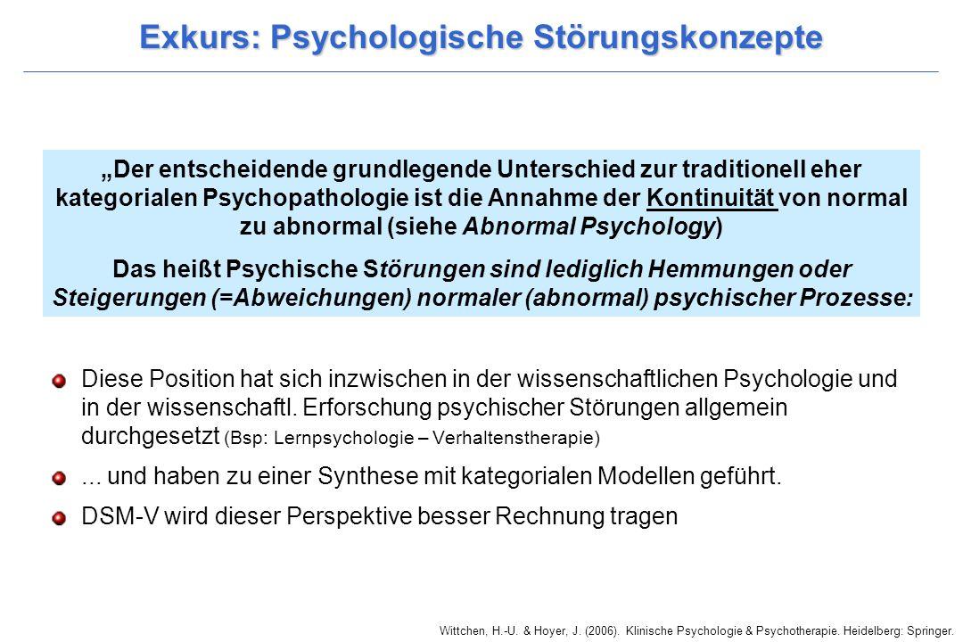 Exkurs: Psychologische Störungskonzepte