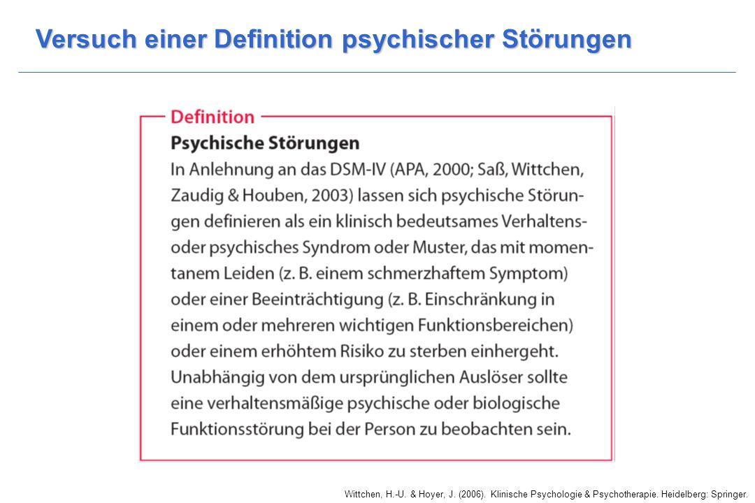 Versuch einer Definition psychischer Störungen