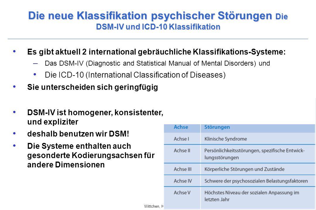 Die neue Klassifikation psychischer Störungen Die DSM-IV und ICD-10 Klassifikation