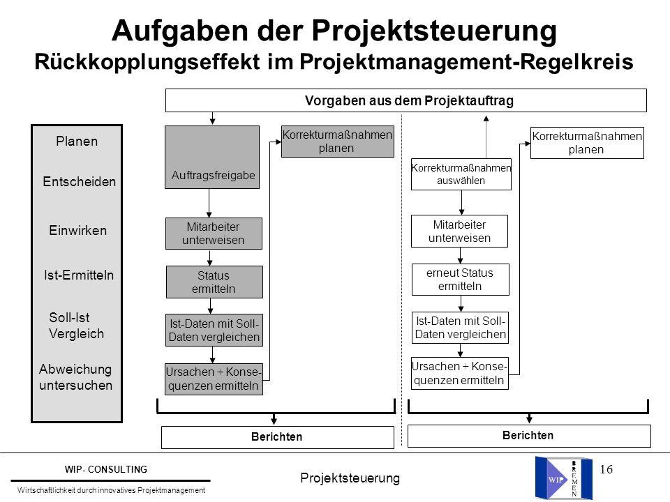 Aufgaben der Projektsteuerung