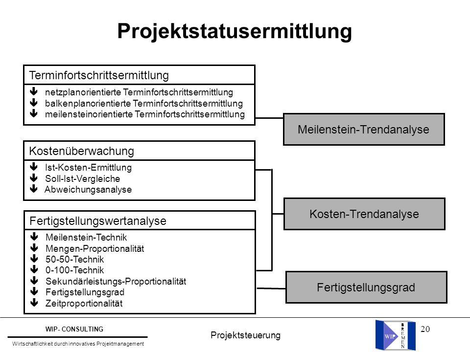 Projektstatusermittlung