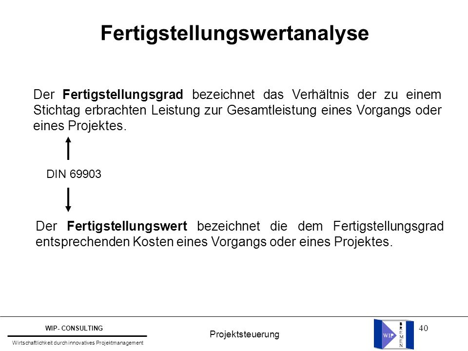 Fertigstellungswertanalyse