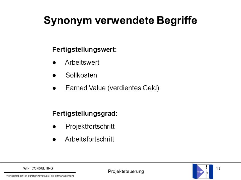Synonym verwendete Begriffe