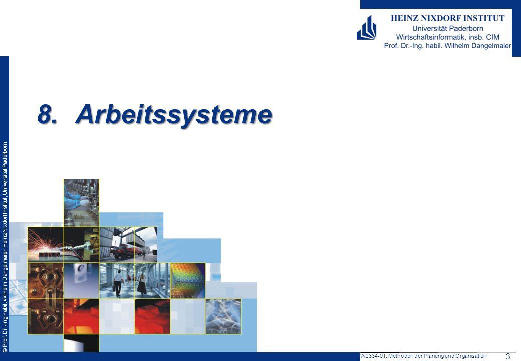 Arbeitssysteme 3 W2334-01: Methoden der Planung und Organisation