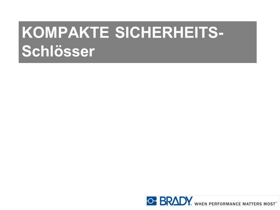KOMPAKTE SICHERHEITS- Schlösser