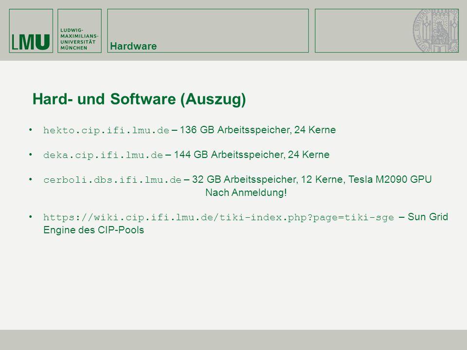 Hard- und Software (Auszug)