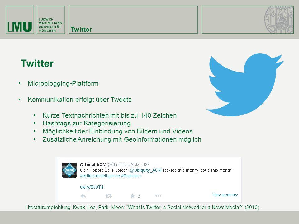 Twitter Twitter Microblogging-Plattform