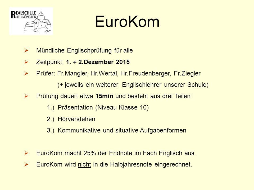 EuroKom Mündliche Englischprüfung für alle