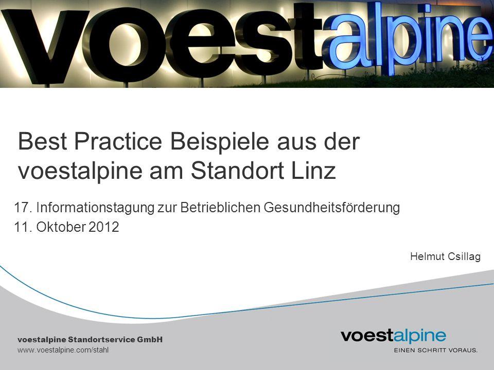 Best Practice Beispiele aus der voestalpine am Standort Linz