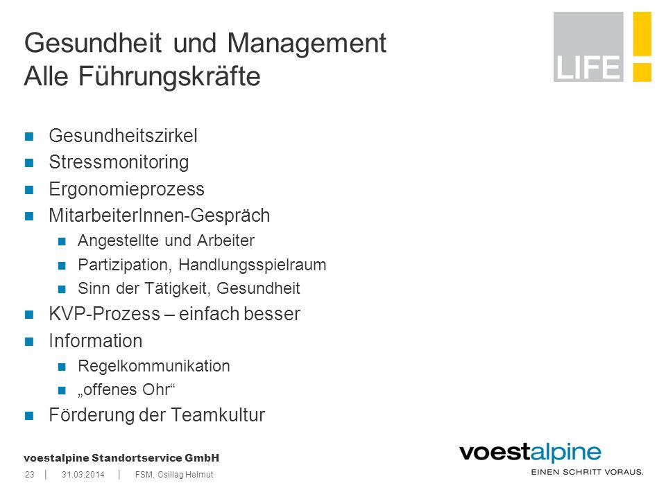 Gesundheit und Management Alle Führungskräfte