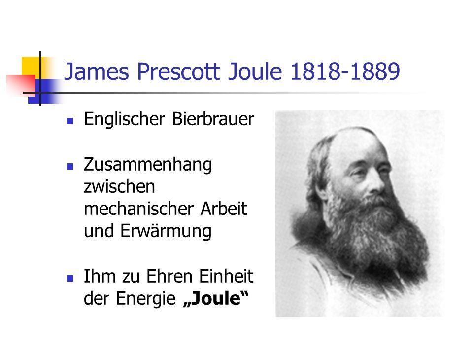 James Prescott Joule 1818-1889 Englischer Bierbrauer