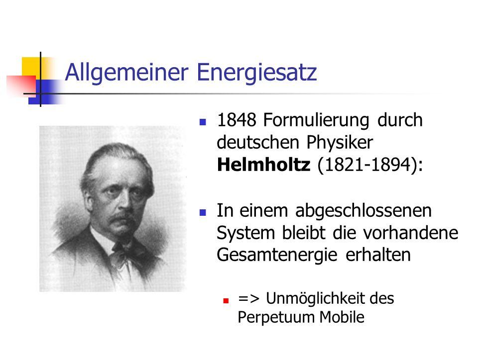 Allgemeiner Energiesatz