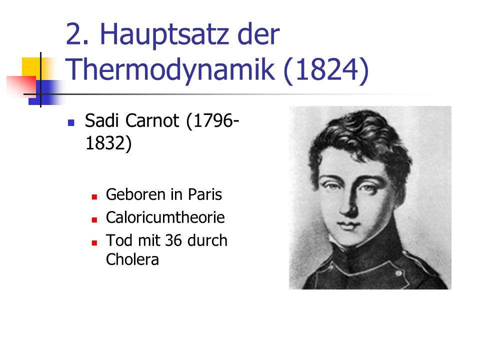 2. Hauptsatz der Thermodynamik (1824)