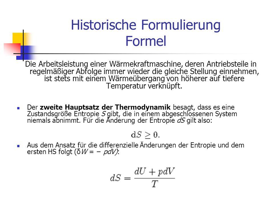Historische Formulierung Formel