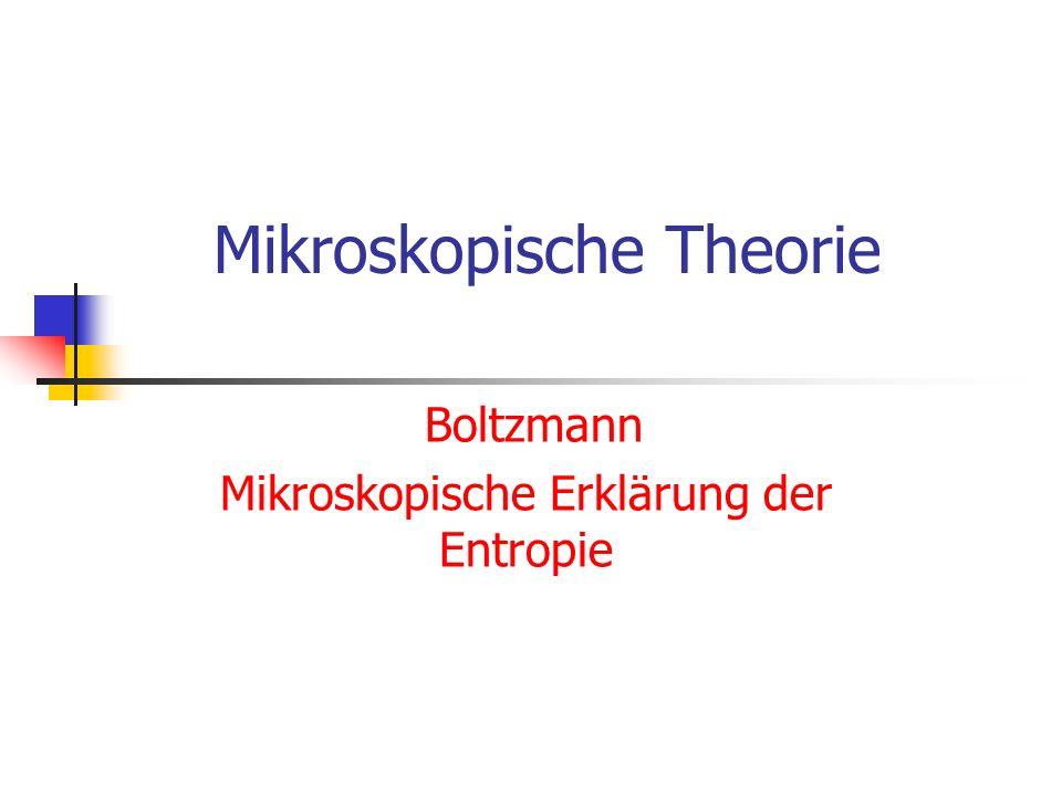 Mikroskopische Theorie