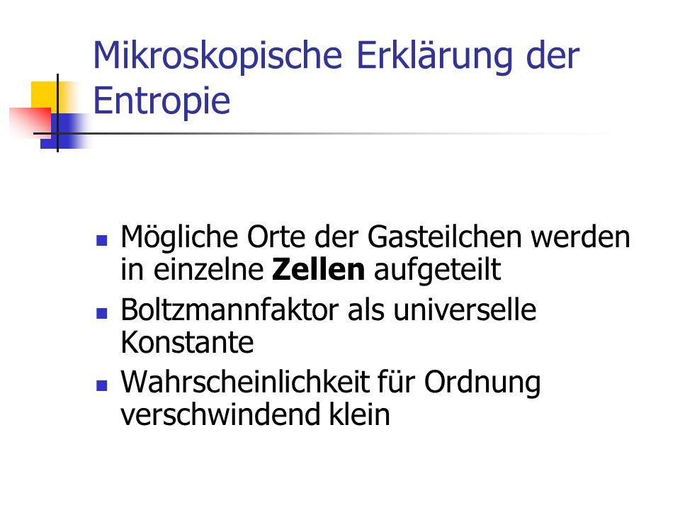 Mikroskopische Erklärung der Entropie