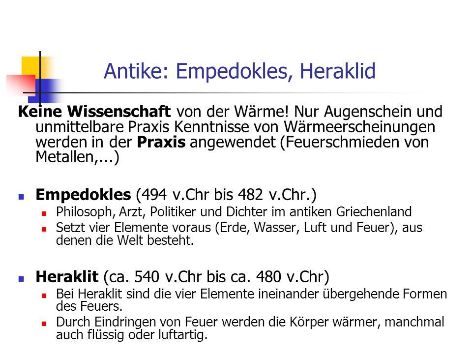 Antike: Empedokles, Heraklid