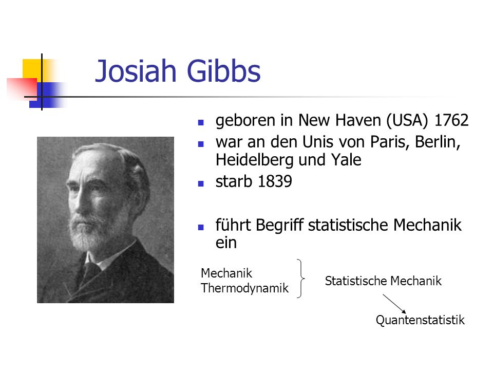 Josiah Gibbs geboren in New Haven (USA) 1762