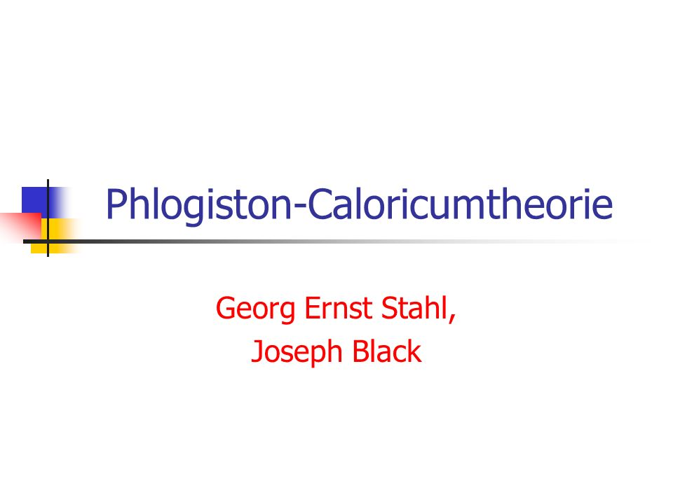 Phlogiston-Caloricumtheorie