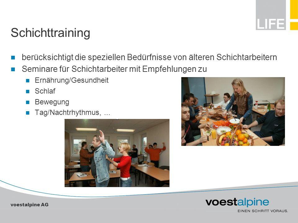 Schichttraining berücksichtigt die speziellen Bedürfnisse von älteren Schichtarbeitern. Seminare für Schichtarbeiter mit Empfehlungen zu.