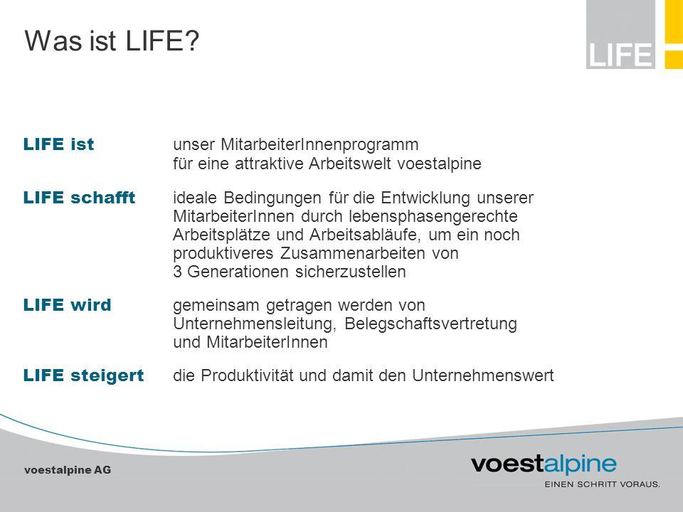 Was ist LIFE LIFE ist unser MitarbeiterInnenprogramm für eine attraktive Arbeitswelt voestalpine.