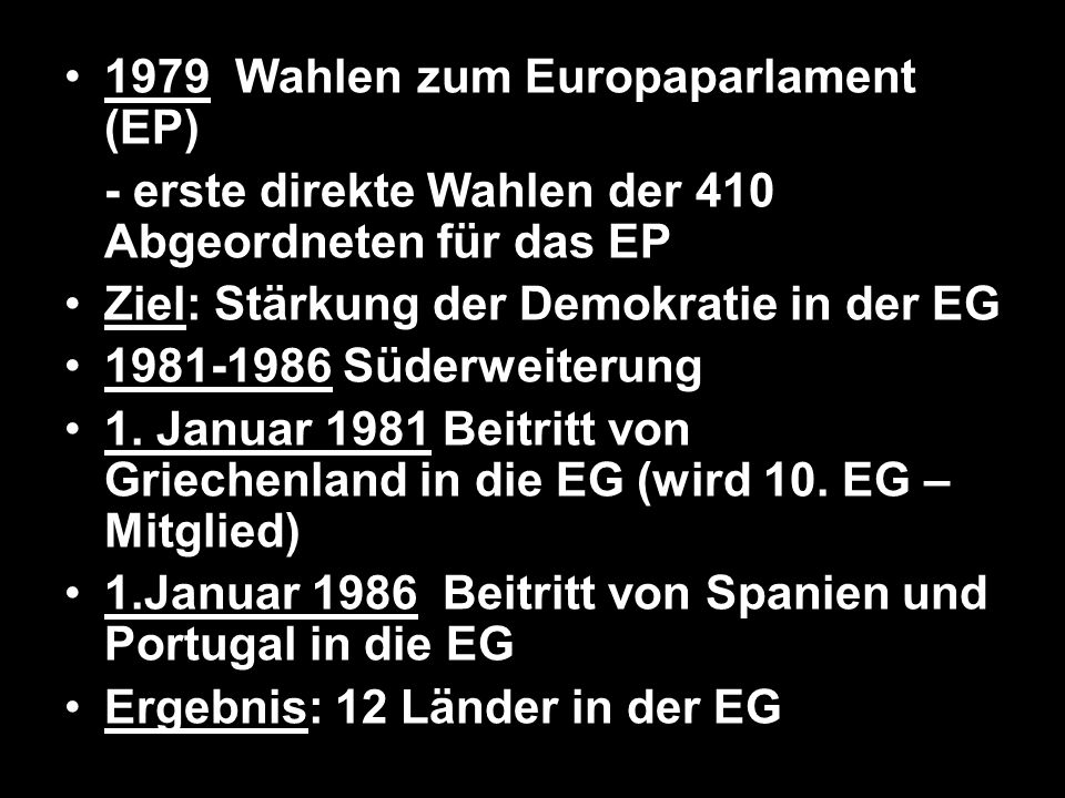 1979 Wahlen zum Europaparlament (EP)