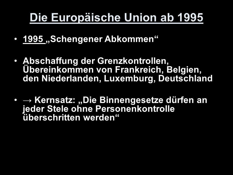 Die Europäische Union ab 1995