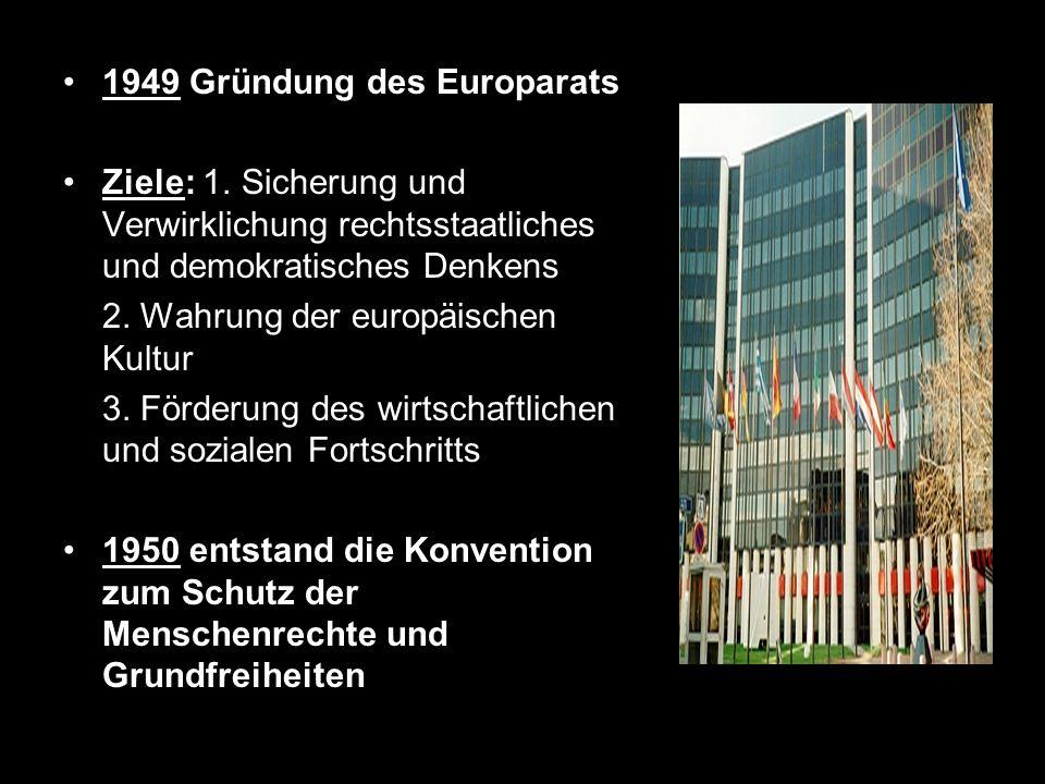 1949 Gründung des Europarats