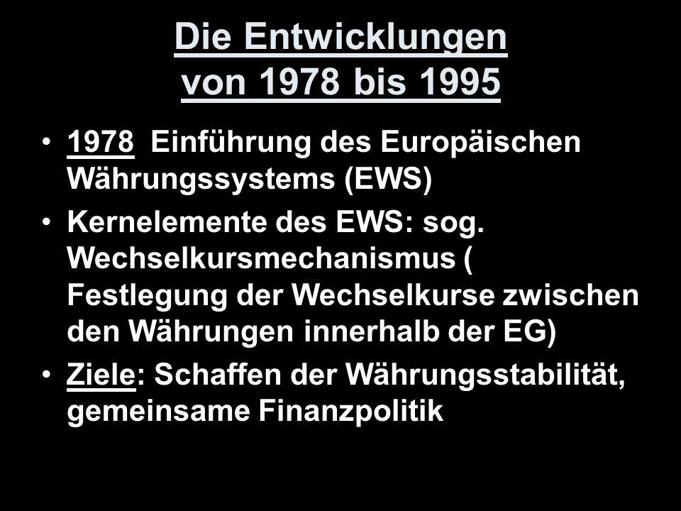 Die Entwicklungen von 1978 bis 1995