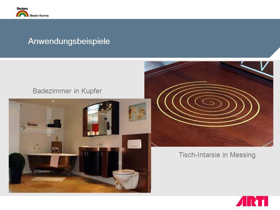 Tisch-Intarsie in Messing