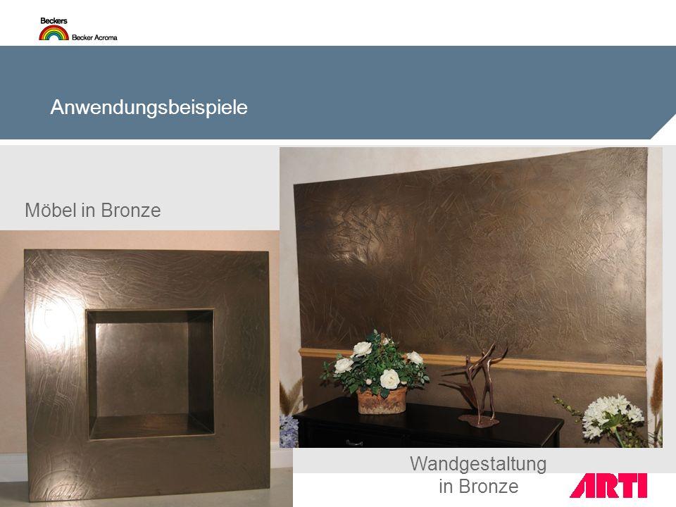 Anwendungsbeispiele Möbel in Bronze Wandgestaltung in Bronze