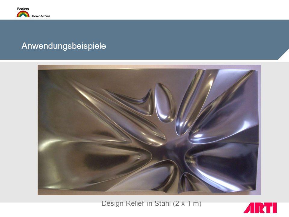 Design-Relief in Stahl (2 x 1 m)