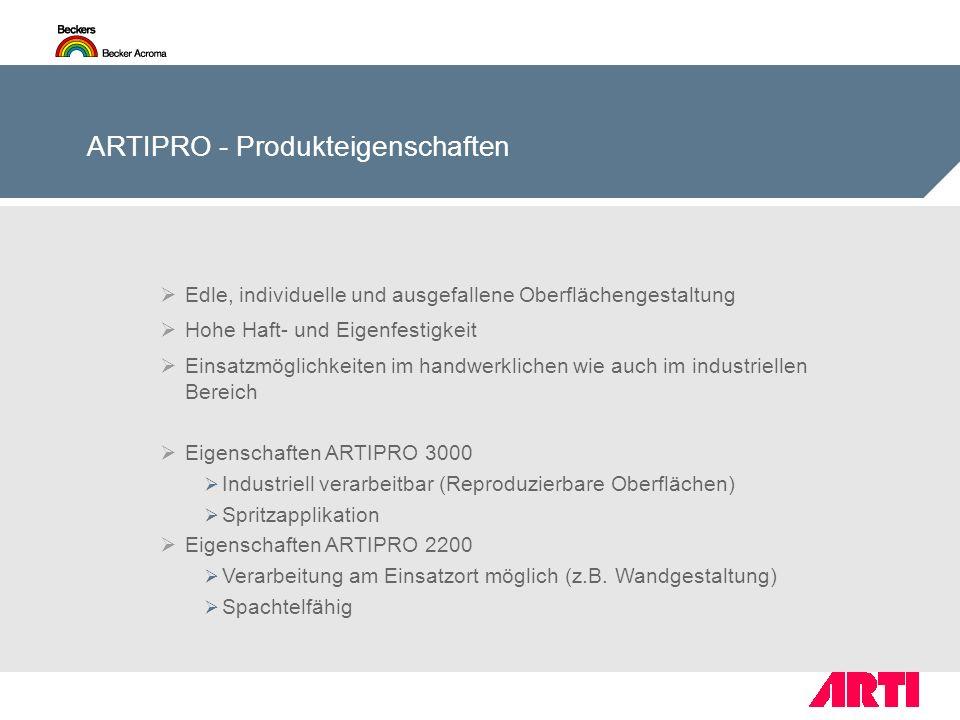 ARTIPRO - Produkteigenschaften