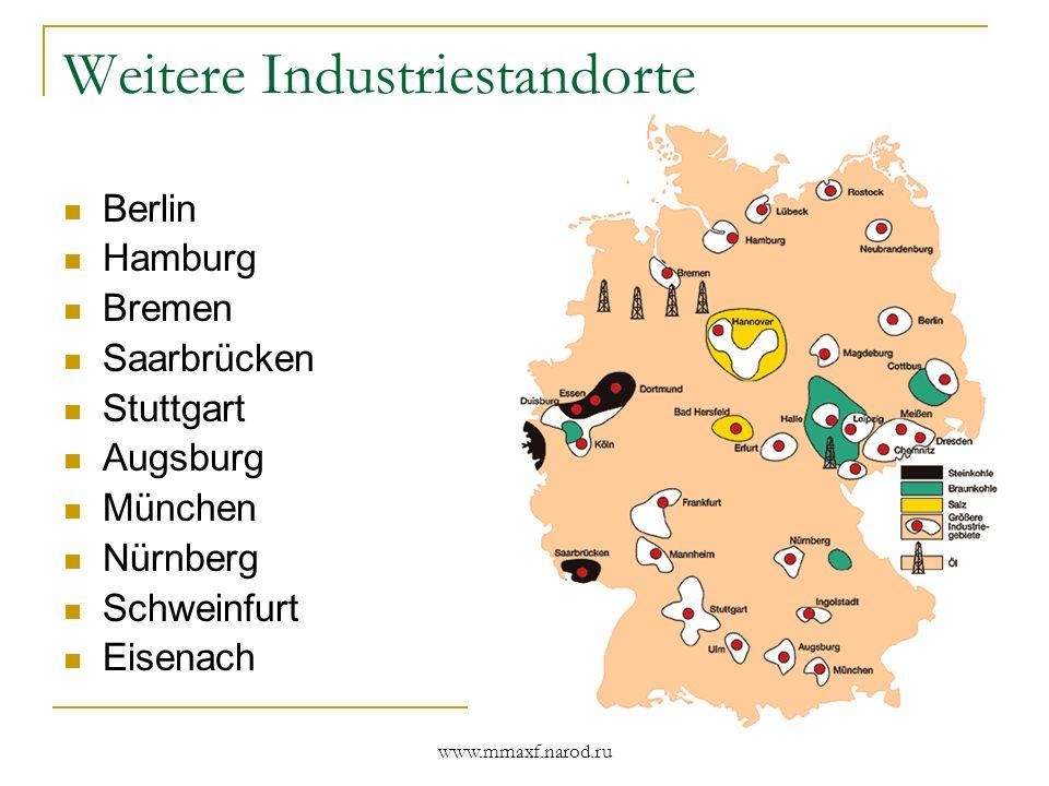 Weitere Industriestandorte