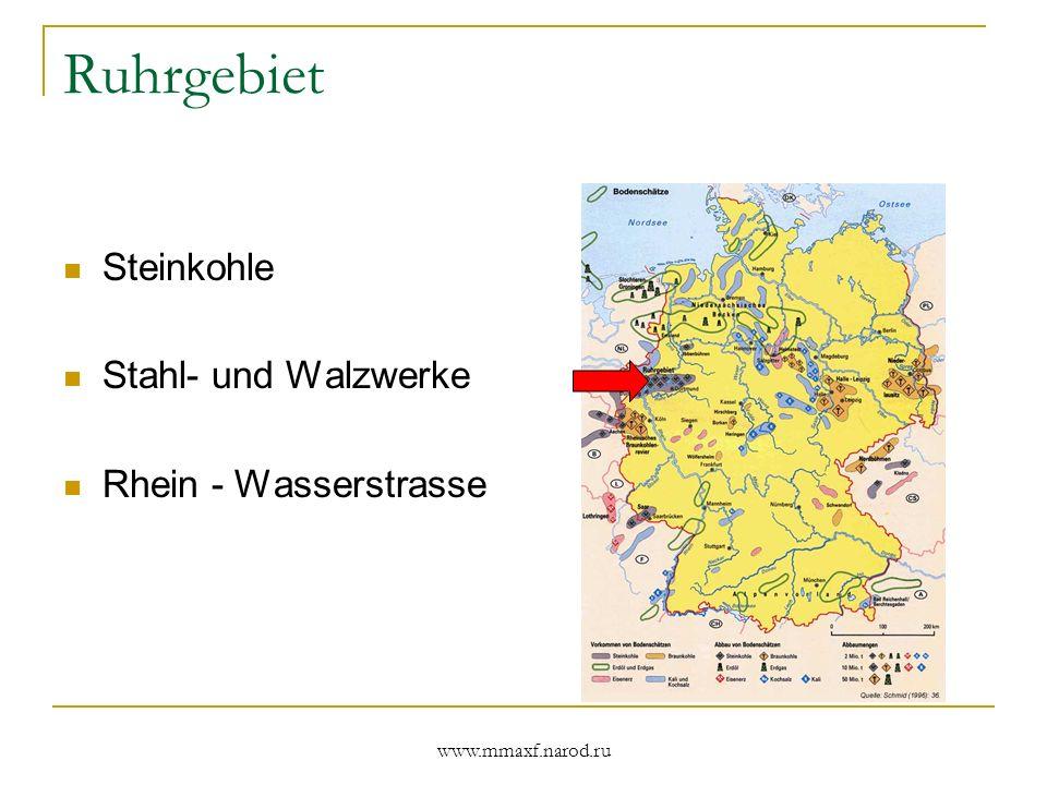 Ruhrgebiet Steinkohle Stahl- und Walzwerke Rhein - Wasserstrasse