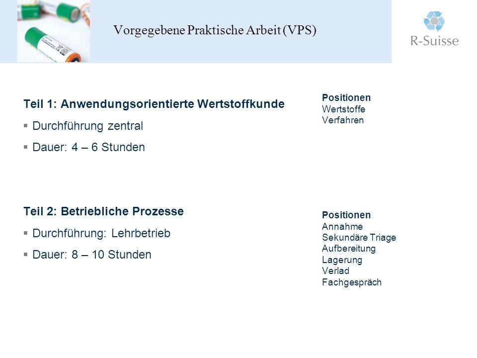 Vorgegebene Praktische Arbeit (VPS)
