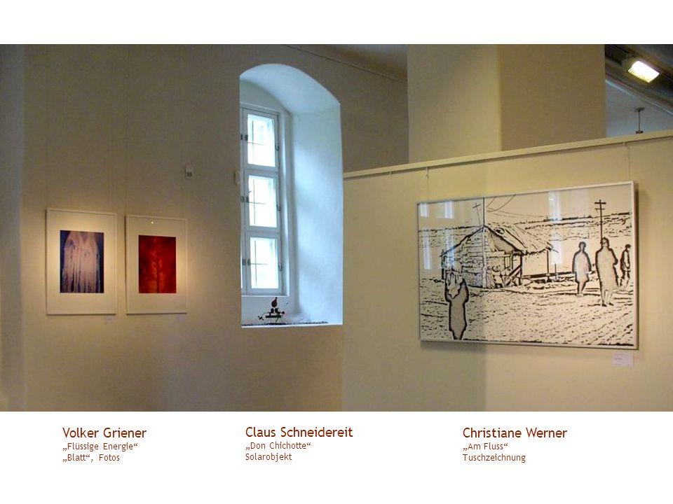 """Volker Griener """"Flüssige Energie """"Blatt , Fotos"""