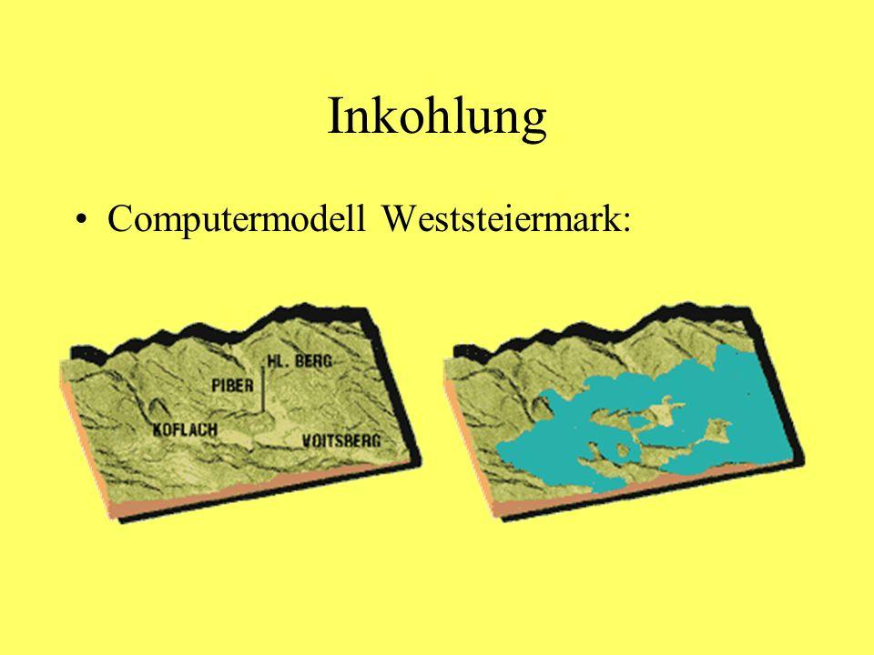 Inkohlung Computermodell Weststeiermark: