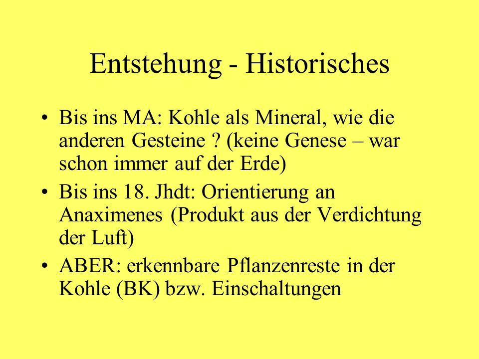 Entstehung - Historisches