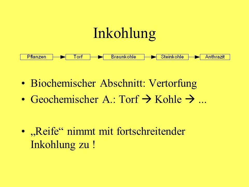Inkohlung Biochemischer Abschnitt: Vertorfung