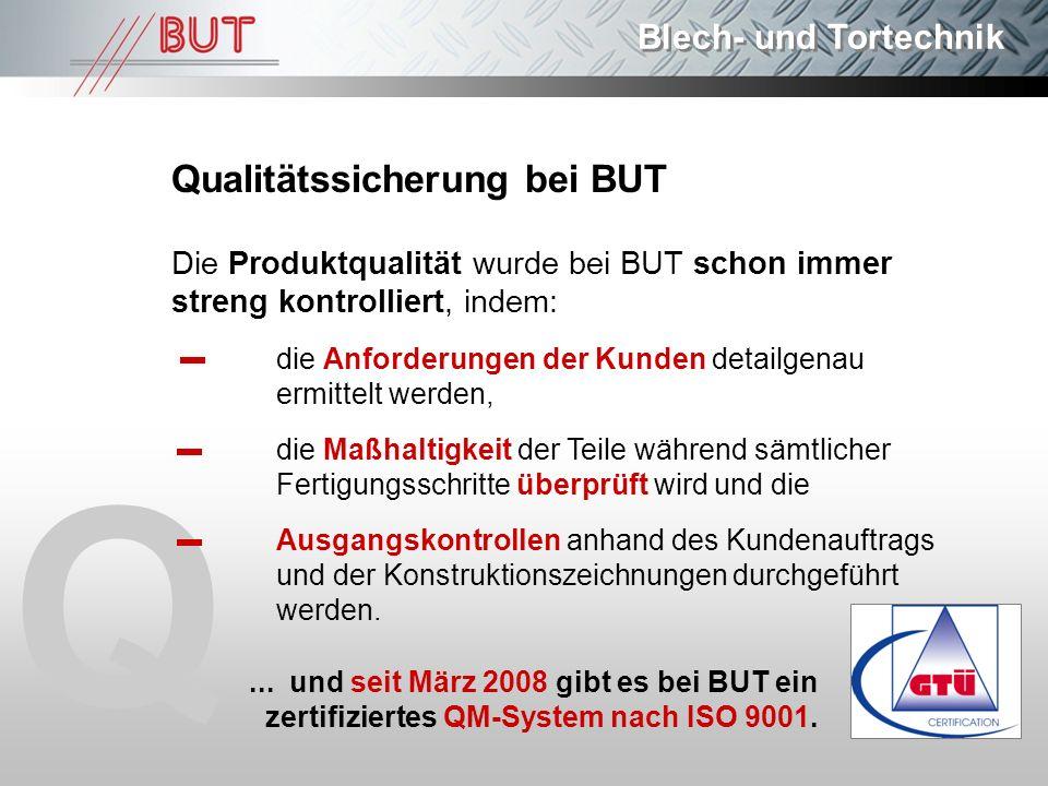 Q Qualitätssicherung bei BUT