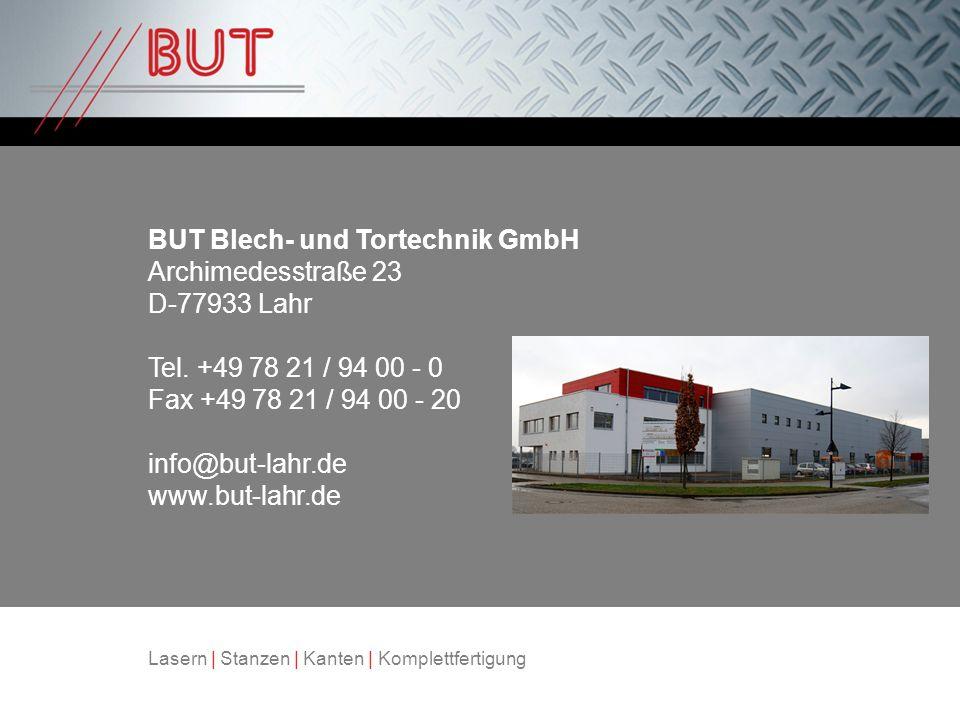 BUT Blech- und Tortechnik GmbH Archimedesstraße 23 D-77933 Lahr