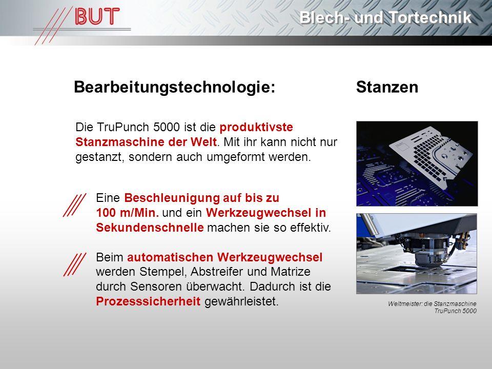 Bearbeitungstechnologie: Stanzen