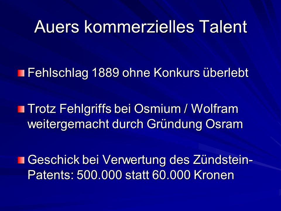 Auers kommerzielles Talent